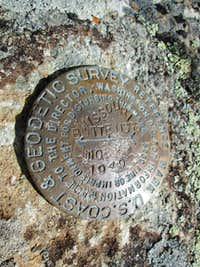 USGS Marker on top of the Northwest Missouri Butte