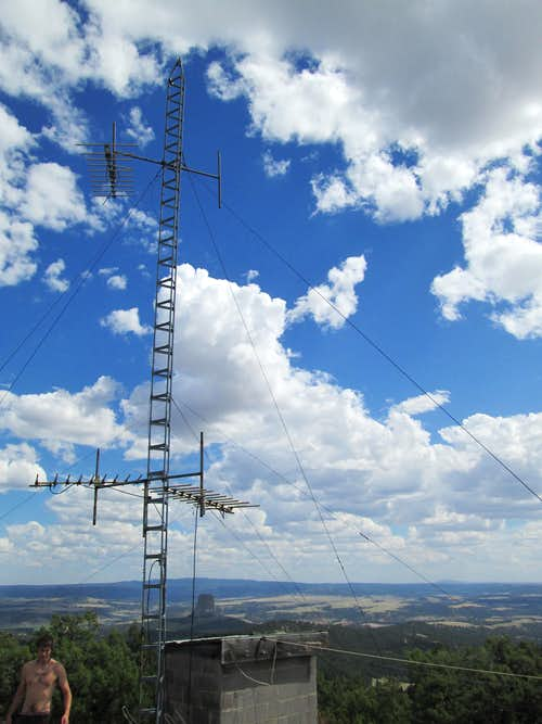 The old raidio tower on top of the Missouri Butte