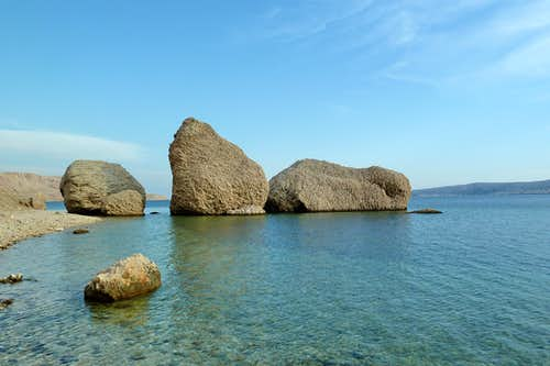 Boulders on the seaside