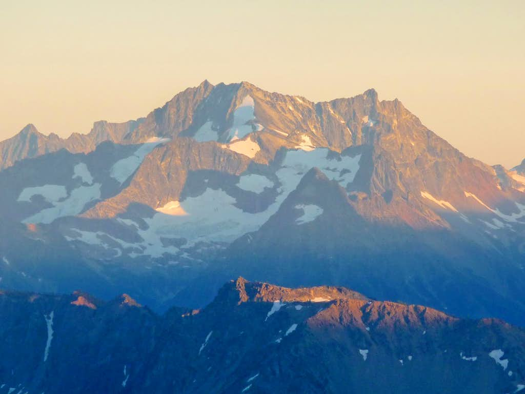 Evening Light on Bonanza Peak