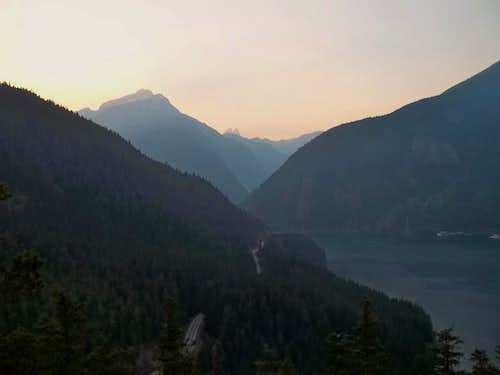 Diablo Lake from Thunder Knob