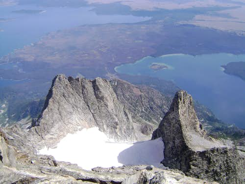 Looking down the CMC face