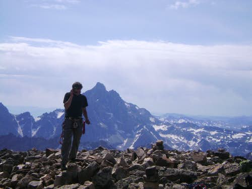 Doing buisness from the top of Mount Moran