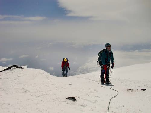 JD and I reaching the top of Mount Rainier