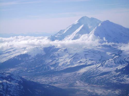 Mt Redoubt-The Tallest Peak in the Aleutian Range of Alaska