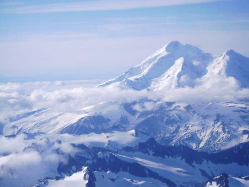Redoubt Volcano-Highest Peak in Aleutian Range.