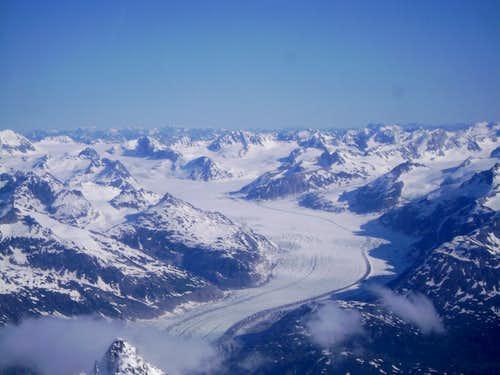 Large Glacier in the northern Aleutian Range
