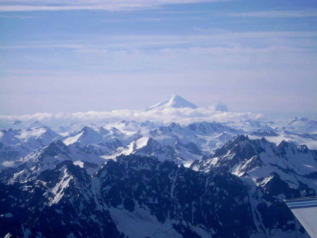 Mt Iliamna: 10,016 ft-The second hightest peak in the Aleutian Range