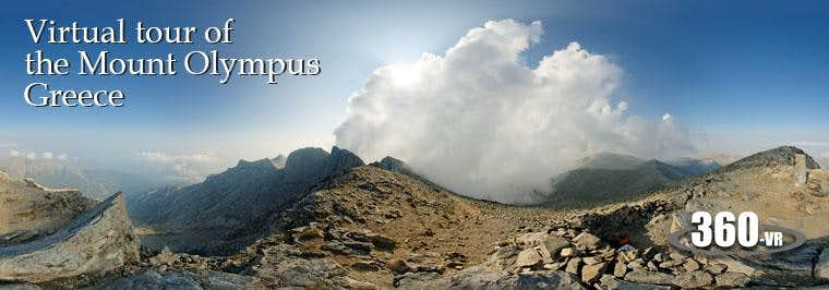 Virtual tour of  the Mount Olympus (Olymbos)