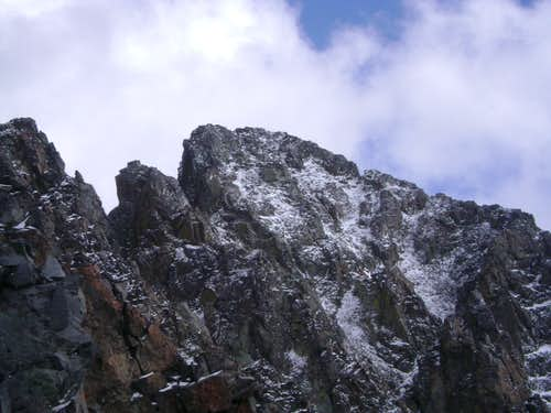 The upper section of the west ridge of Crazy Peak