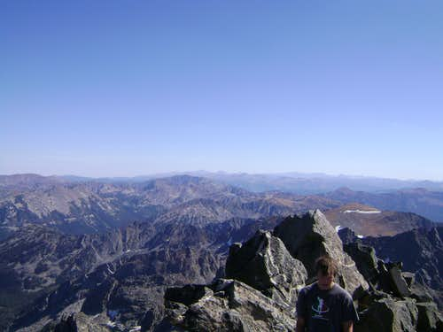 View from the summit of Mt Cowen-Looking towards the Eastern Beartooths.