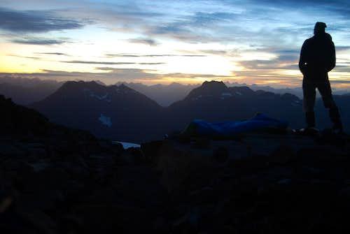 Camping on south ridge