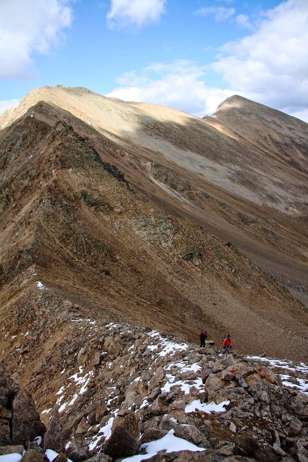 Start of the North Ridge