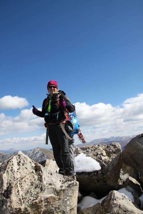Sarah on the summit