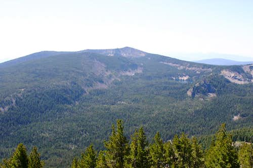 Mount Carmine and Aspen Butte from Mount Harriman