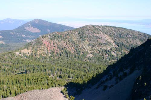 Mount Harriman and Mount Carmine from Aspen Butte