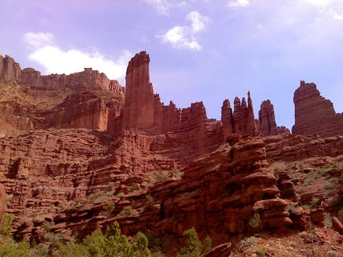 Panorama of the Fisher Towers
