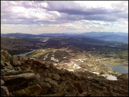 At the top of Lonesome Mountain-Beartooth Range MT