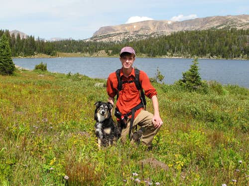 Me and my dog Cinco in the Beartooth Mountains