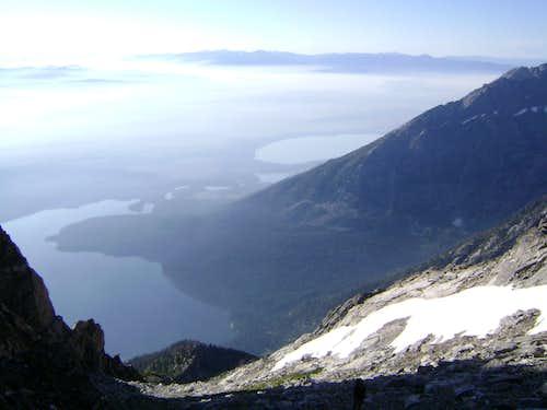High above the Teton valley floor