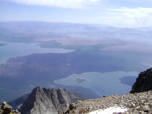 Over the edge....The Summit of Mt Moran
