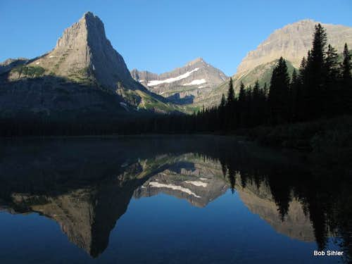Pyramid Peak and Cathedral Peak Reflected in Glenns Lake