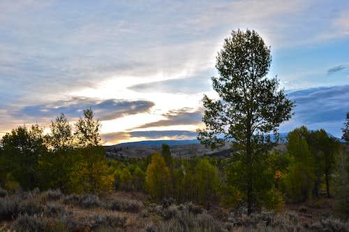 Sunrise near Kelly Wyoming