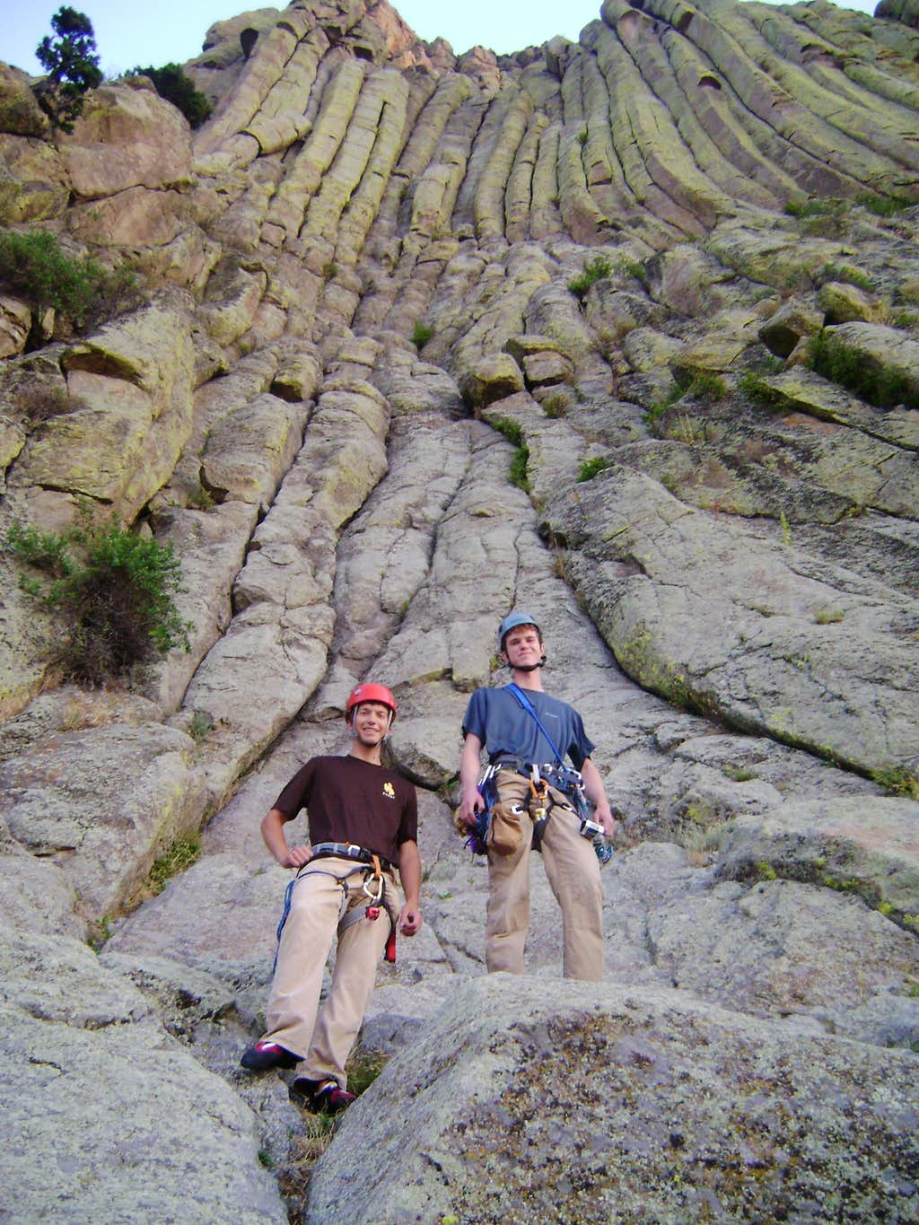 Myself and JD Sacklin at the base of the Durrance route.
