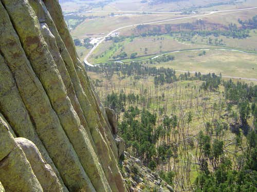 Devils Tower-looking down from the Durrance