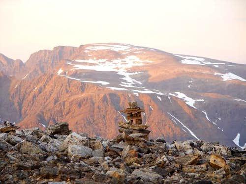 Cirque Mountain at sunset...