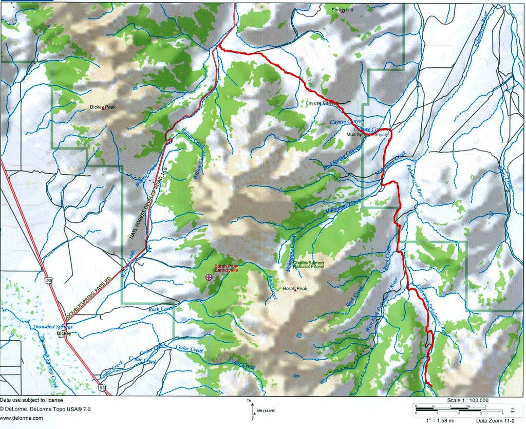 EF of the Pahsimeroi Access map