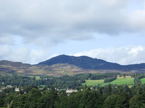 Ben Vrackie looking over the Town of Pitlochry