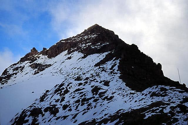 Lenana, seen from Top hut.