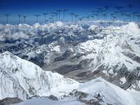 Everst Summit panorama -looking west, May 19, 2012