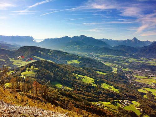 View from the Gaisberg in autumn