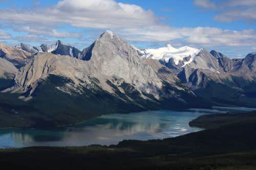 Maligne Mountain and Lake