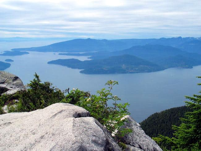 Looking out over Howe Sound...