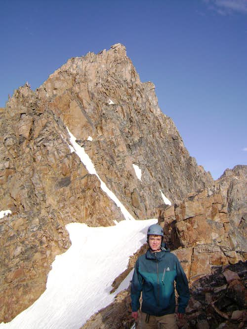Summit pyramid of Granite Peak MT