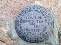 Granite Peak-USGS summit marker