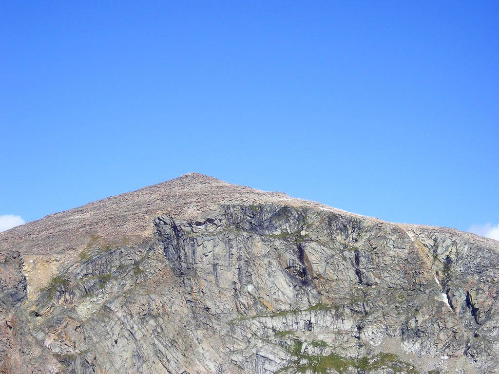 Cliffs at the top of Mount Rearguard