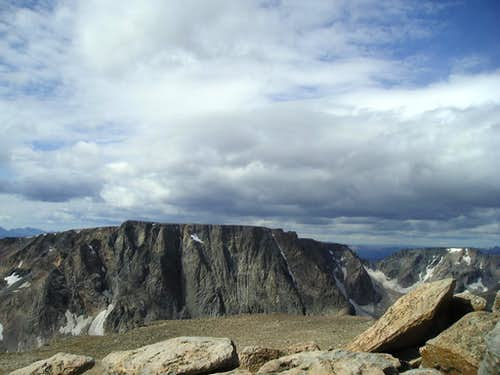 Storm approaching the summit of Mount Rearguard