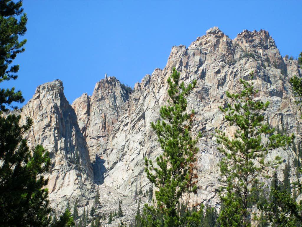 Granite cliffs-Beartooth Range MT