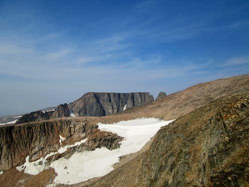 Castle Rock Mountain seen from high on Castle Mountain-Beartooth Range MT