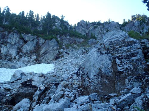Bald Eagle Peak - Large Gully