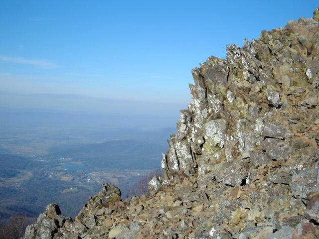View of the summit (right)...