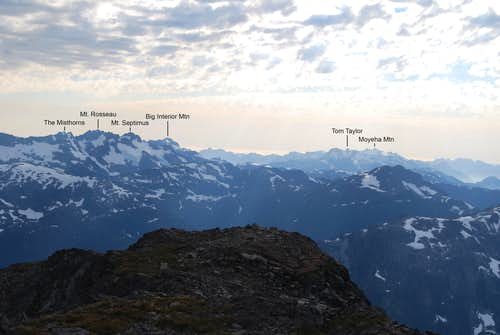 Summits of Bedwell area