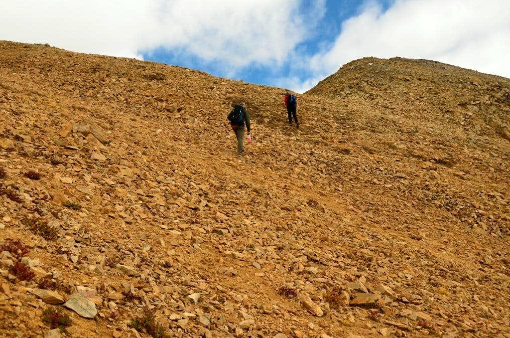 Slope toward Faiscol