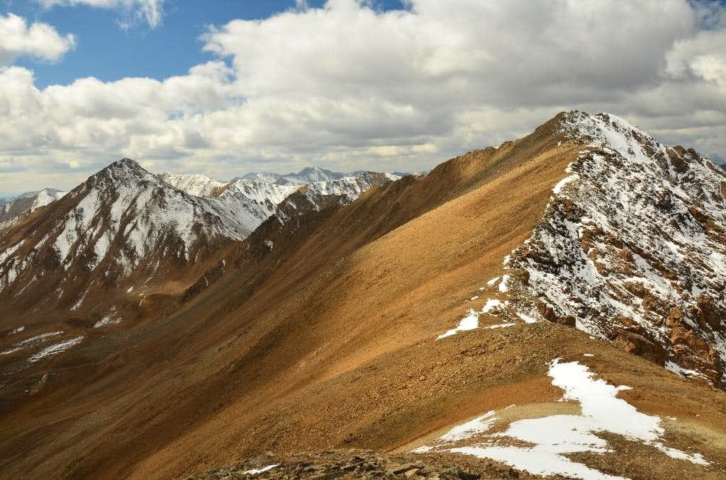 Frasco Benchmark and connecting ridge to Casco Peak.