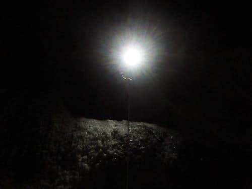 Headlamp on the Ice-Chute