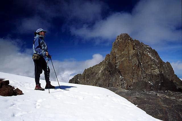 Looking at Mt Kenya from...